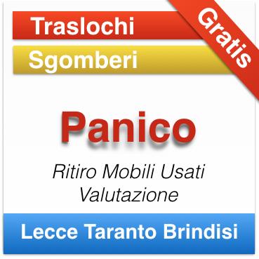 Ritiro Mobili e Arredamenti Usati Lecce ditta Panico